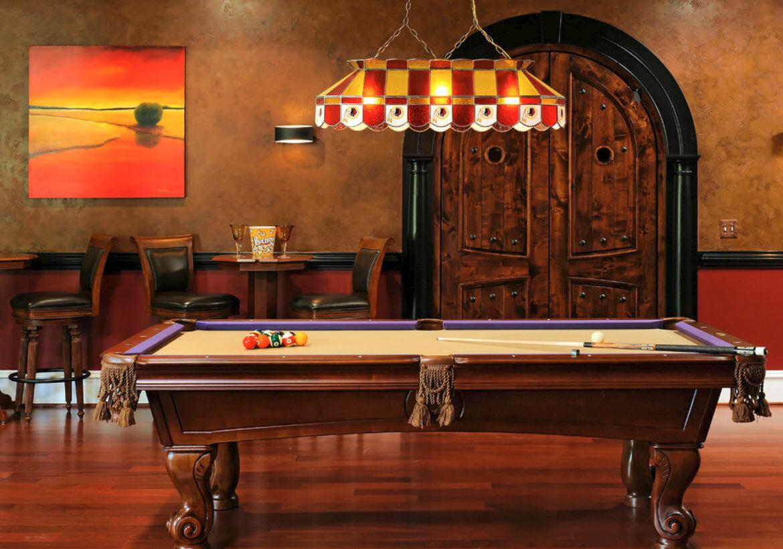 彩色玻璃台球桌灯
